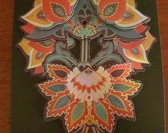 Decoupage floral card.