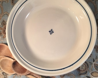 Longaberger pottery pie plate; Woven Traditions Blue; 4 cup pie dish; vitreous pottery & Pottery pie plate   Etsy