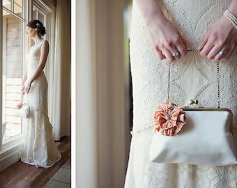 Lolis Flower Bridal Wedding Clutch Purse Bridesmaid Gift Ideas Bag Set Handmade by Lolis Creations