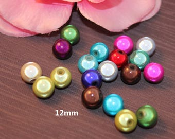 Lot 10 miracle beads / magic 12 mm mixed color