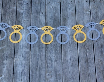 6 Foot - Extra Large Diamond Engagement Ring Banner - Party Shower Banner