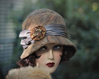 1920s Hat, Flapper Hat,Chemo Hat,20s Hat, Boho, Cloche Hat, Winter Hat, Vintage Style Hat,1920s Hat