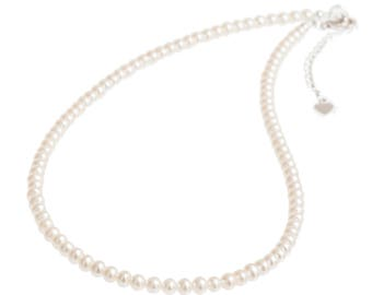 White Pearl Necklace | Pearl Necklace | Real Pearl Necklace | Freshwater Pearl Necklace | Wedding Pearls | Wedding Jewellery