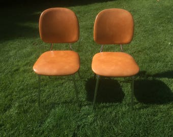 Vintage chairs retro kitchen Chair 60s dining chair set of two