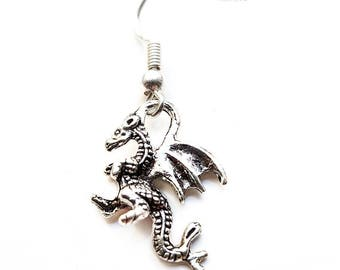 Dragon earrings, Chinese dragon, Chinese new year, goth earrings, gift for her, gift for friend, Valentine's day gift, galentines gift