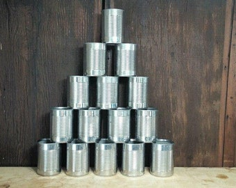 20 Empty Pet Food Cans for Crafting Candles Target Practice