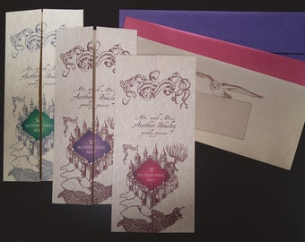 SAMPLE of Harry Potter Marauder's Map Stationery