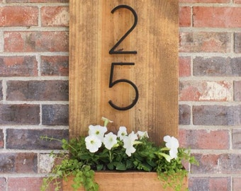 House Number Planter Signs