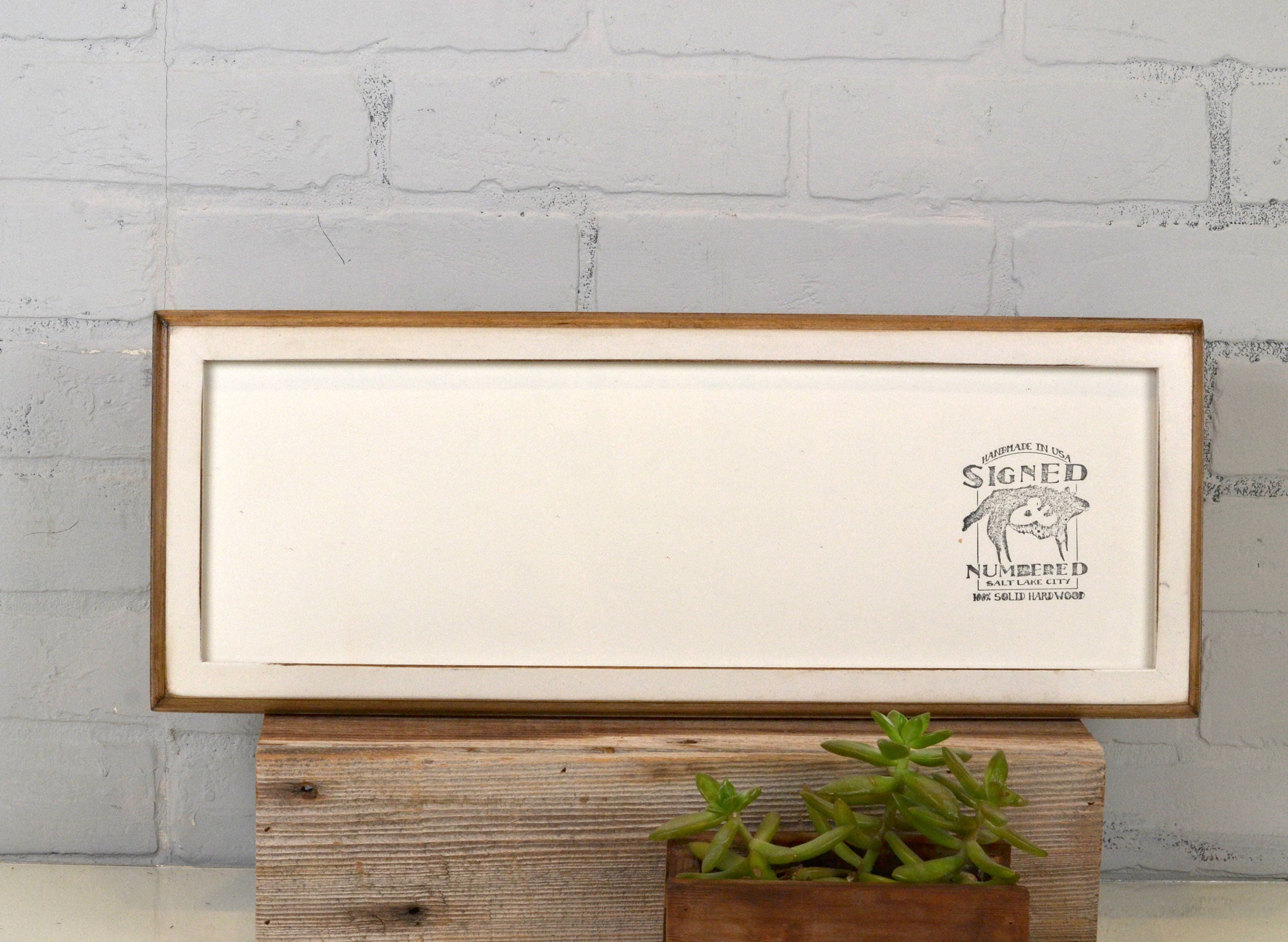 6x18 Panoramic Picture Frame 1x1 2-Tone Style with Vintage White ...