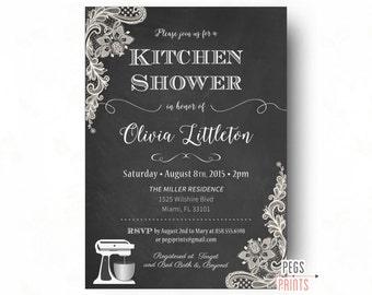 Diy printable chalkboard bridal shower invitation kitchen shower invitation printable chalkboard bridal shower invitation lace bridal shower invitations filmwisefo Choice Image