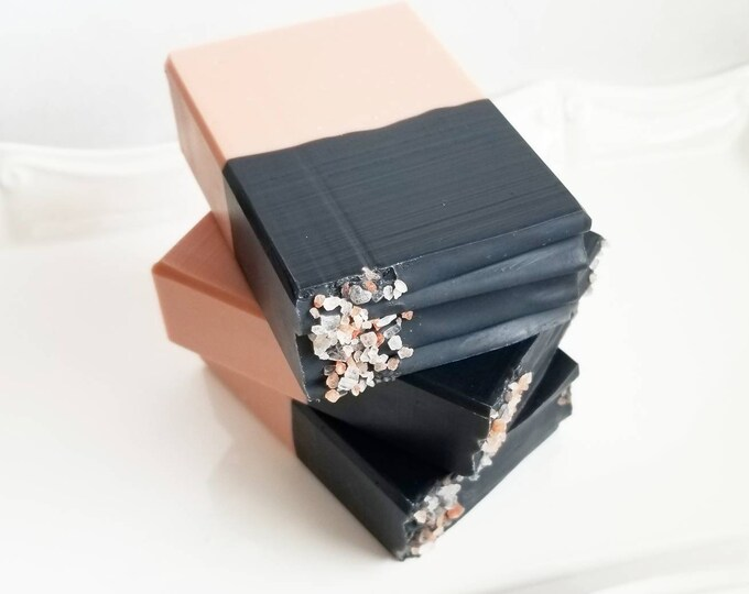 50/50 Spa Bar (Rose Clay & Charcoal Detox Soap)