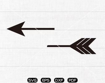 Split arrow SVG, Clipart, cricut, silhouette cut files commercial use