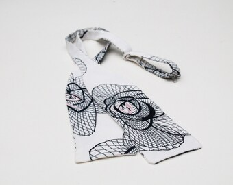 Vintage style bow tie Jazz with art deco print, vintage tie, 1920's print self tie, batwing bow tie vintage inspired