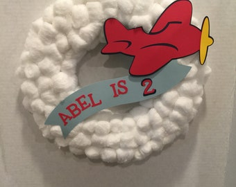 Airplane Party Wreath