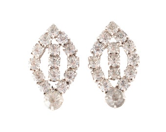 Marquise Shaped Rhinestone Earrings