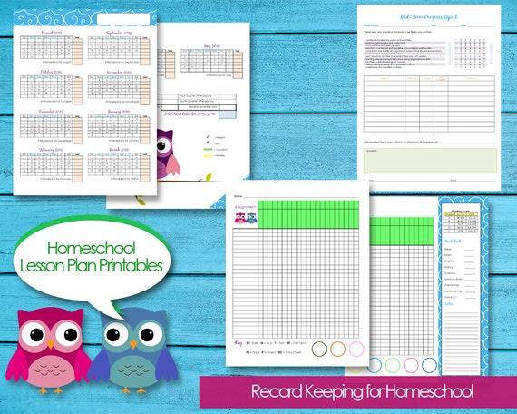 Homeschool Planner Records Attendance Budget Events Grade