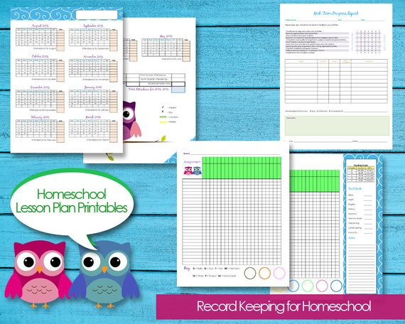 Homeschool Planner Records Attendance, Budget, Events, Grade Book, Progress  Reports, Contacts, Instant Download Editable PDFs