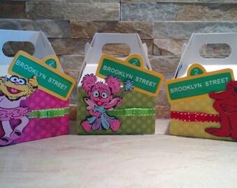 Sesame Street Mini Gable Box/ Elmo Mini Gable Boxes/ Abby Cababra box/ Sesame Street Mini favor boxes