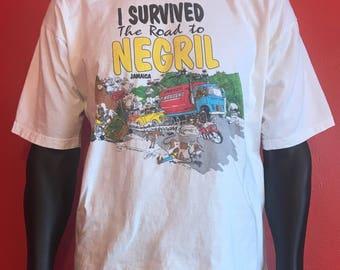 Vintage Negril Jamaica tourism souvenir shirt XL