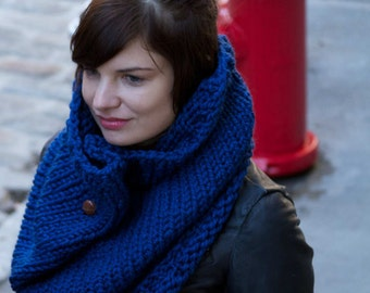 Knitting Pattern Cowl Infinity Scarf - Easy Beginner