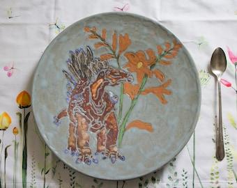 Stegosaurus Dinner Plate
