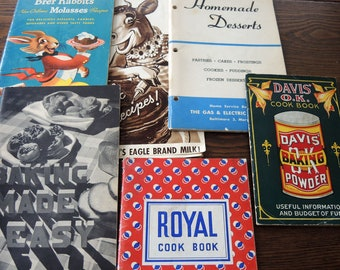 Vintage Baking Related Cook Booklets