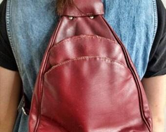 Vintage 90's Leather Rucksack