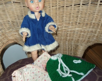 Gerber doll and clothing lot