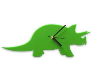 Dinosaur Clock, Triceratops Dinosaur Wall Clock for Children
