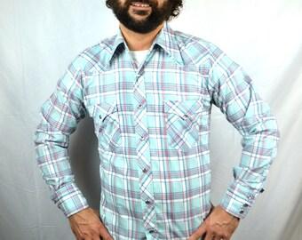 Vintage Wrangler Western Pearl Snap Shirt