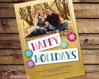 Cute Happy Holidays Card