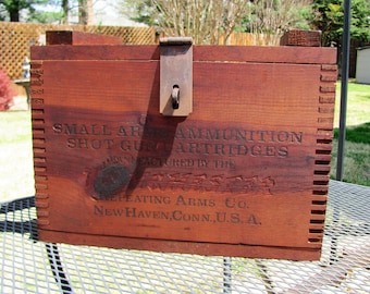 Winchester Ammo Box / Crate / Winchester Small Arms Ammunition Wood Crate