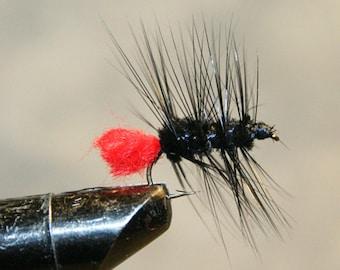 Fly Fisherman - Made in Michigan - lié à la main - mouche noir avec rouge - mouches de pêche à la mouche - pêche classique mouches - boutique de pêche à la mouche