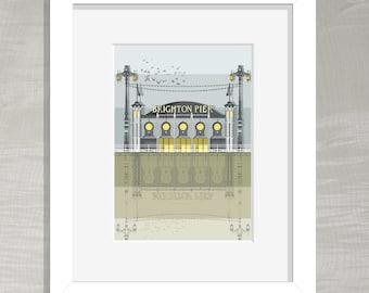 Brighton Architectural Print - Brighton Pier