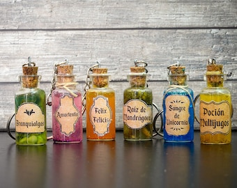 Keychains potions Harry Potter-Harry Potter gift-geek gift-decoration Harry Potter-geek decoration-geek Keychain