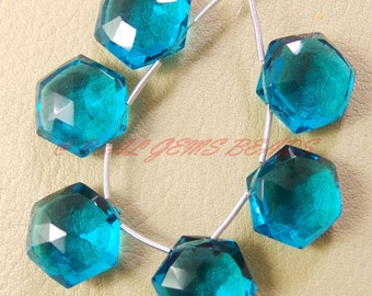 10 Pieces, Paraiba Blue Quartz Faceted Star Shape Briolettes, 14 MM Size, Loose Gemstone Star Beads, AAA Grade High Quality