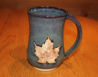 Pottery Maple Leaf Mug  ...     Made in Vermont