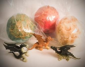 DRAGON EGG! Dragon Inside! HUGE BaTH BoMB Egg - Party Favor Surprise Dragon Gift Idea Bath Game King Medieval Renaissance Thrones Dungeons