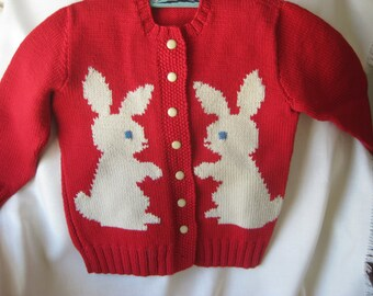 Vintage Bunny Rabbit Sweater