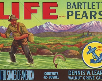 Life Pears Crate Label