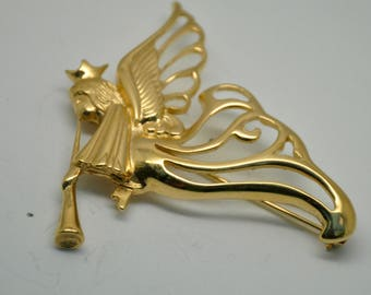 R14: VERY RARE GIVENCHY GTAngel Brooch--signed Givenchy