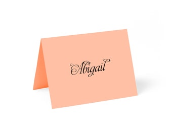 Place Cards, Coral with Custom Printing // set of 8