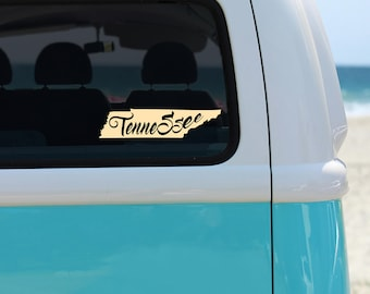 Tennessee Car Decal - Removable Vinyl Car Decals of Tennessee State