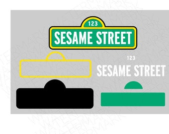 Street Sign SVG & Studio 3 Cut File Stencil Decal Files Logo for Silhouette Cricut SVGS  Cutouts Decoration Sesame