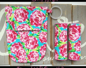 lilly pulitzer Inspired baby girl gift set