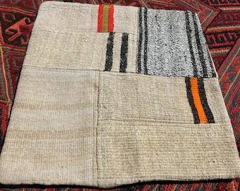 Turkish kilim  cushion Cover 50x50cm handmade, vintage