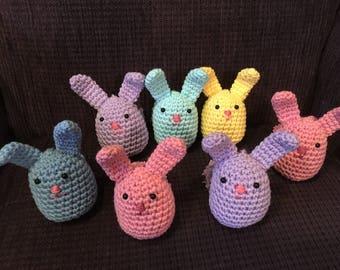 Crochet amigurumi bunny/Crochet bunny ornament/Amigurumi bunny decoration/Woodland animal/Stuffed bunny toy/Bunny stuffed animal