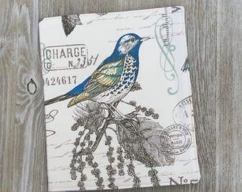 Service Folder, Ministry Organizer, jw Magazine Folder, in Birds and Botanicals Print - Ready to Ship