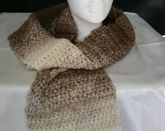 Brown Multi-color Scarf
