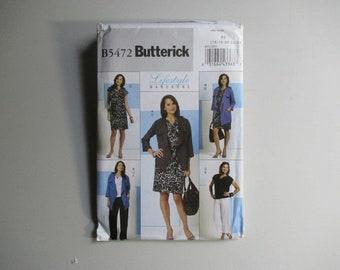 Misses' Jacket, Top, Dress, Sash and Pants –Butterick B5472